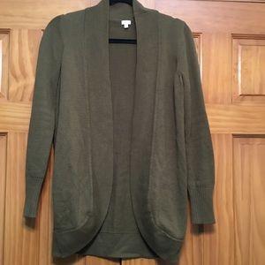 J. Crew Olive Green Cardigan Sweater